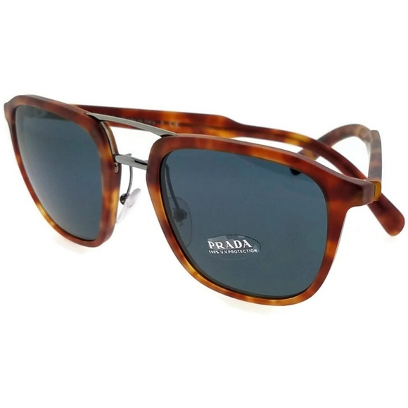 2bf7bd778087 PR12TS-HAJ2K1 Square Men Tortoise Frame Sunglasses. NWT. Prada